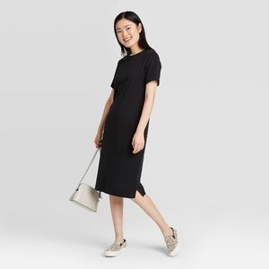 Women's Black T Shirt Dress